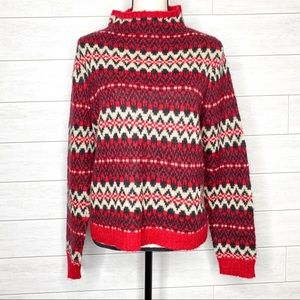 Chaps Fair Isle Pullover Sweater Petite Large